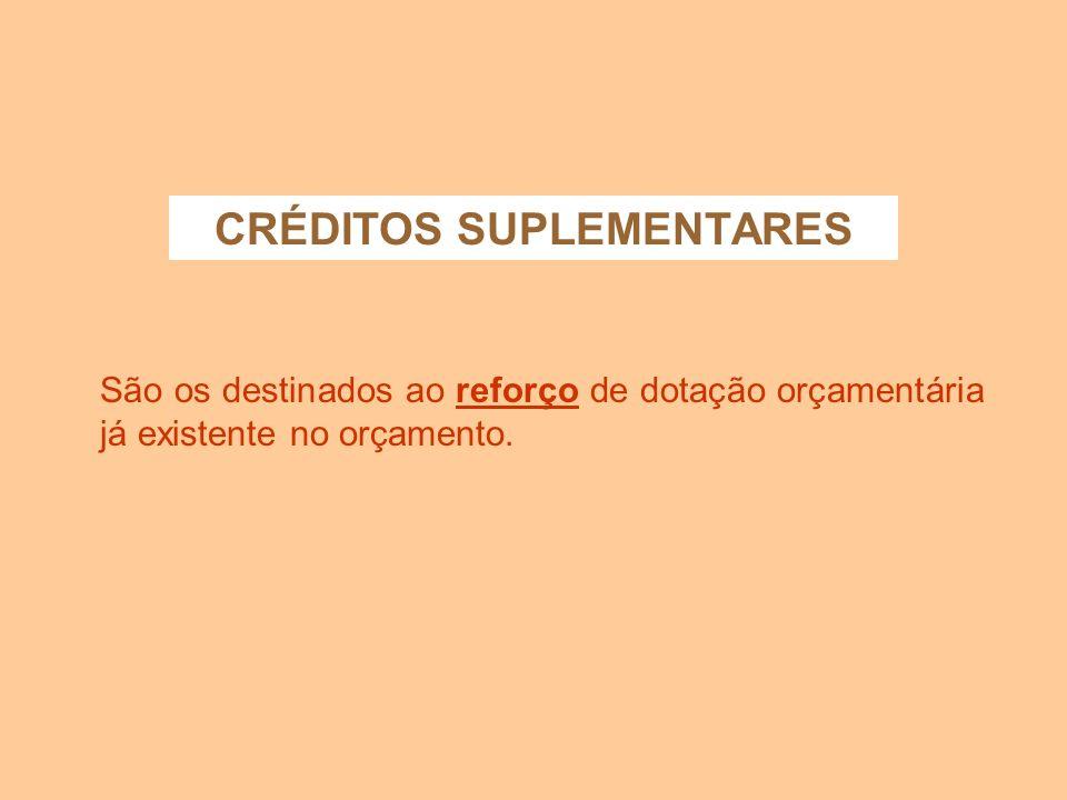 CRÉDITOS SUPLEMENTARES