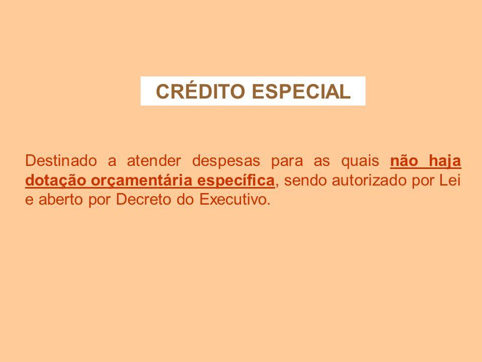 CRÉDITO ESPECIAL