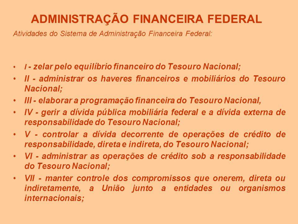 ADMINISTRAÇÃO FINANCEIRA FEDERAL
