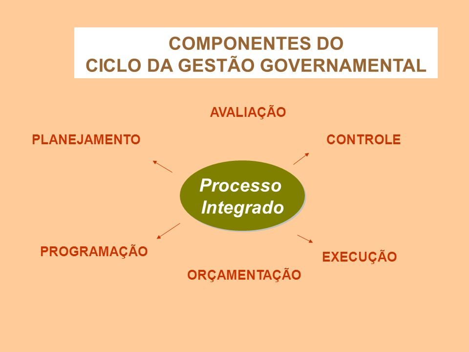COMPONENTES DO CICLO DA GESTÃO GOVERNAMENTAL