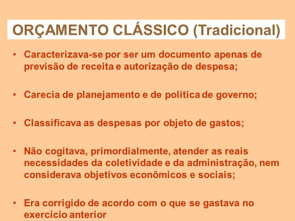 ORÇAMENTO CLÁSSICO (Tradicional)