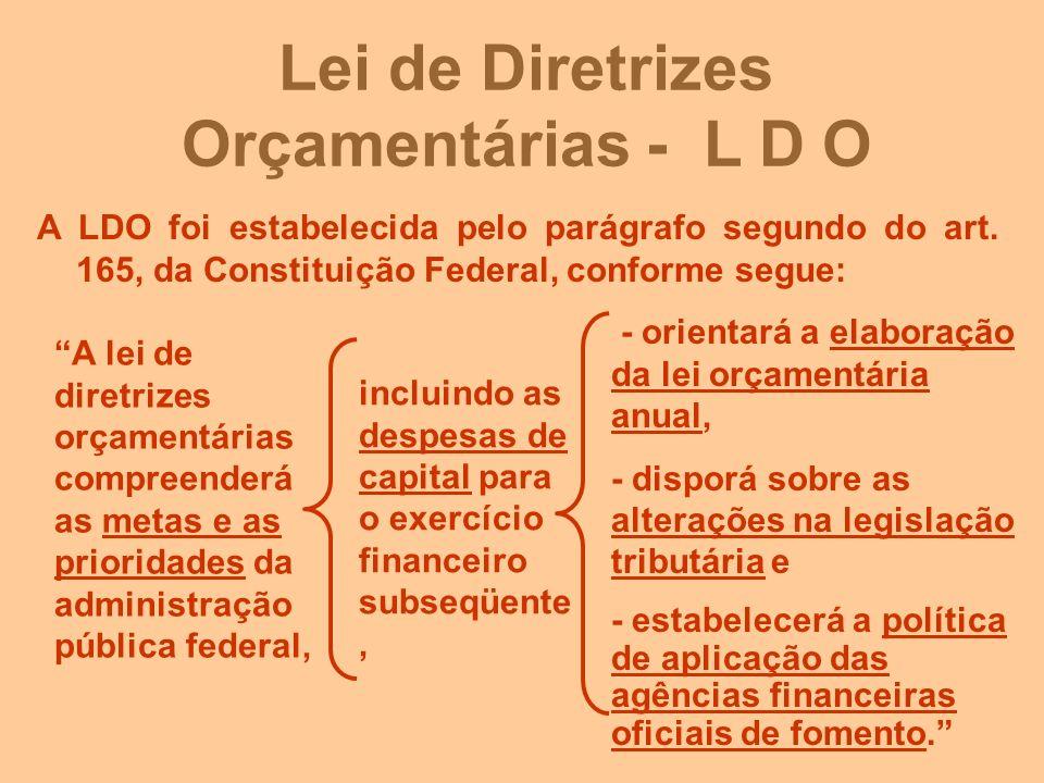 Lei de Diretrizes Orçamentárias - L D O