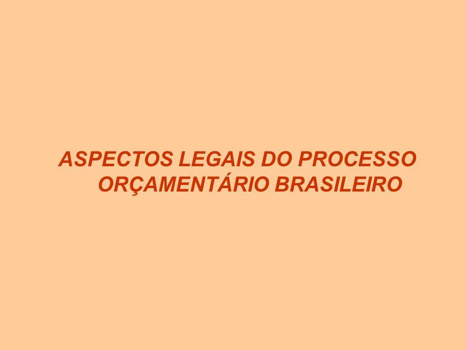 ASPECTOS LEGAIS DO PROCESSO ORÇAMENTÁRIO BRASILEIRO
