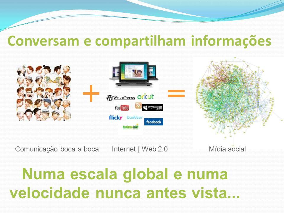 Conversam e compartilham informações