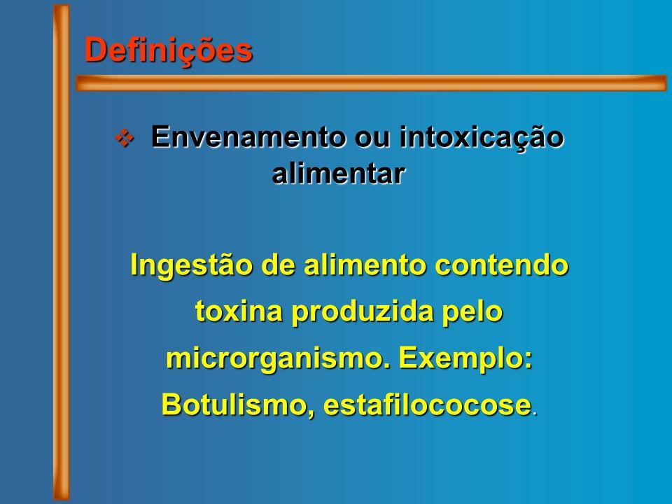 Envenamento ou intoxicação alimentar