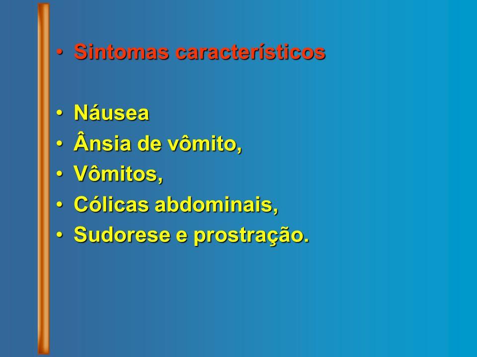 Sintomas característicos