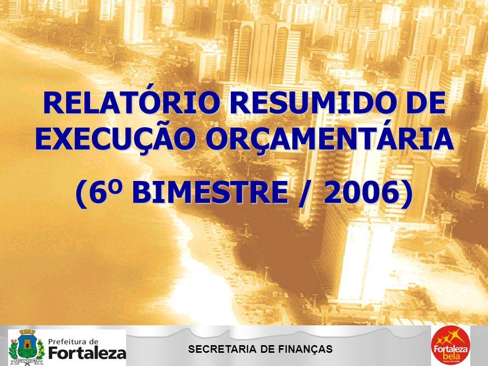RELATÓRIO RESUMIDO DE EXECUÇÃO ORÇAMENTÁRIA SECRETARIA DE FINANÇAS