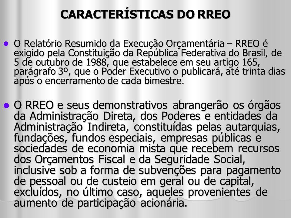 CARACTERÍSTICAS DO RREO