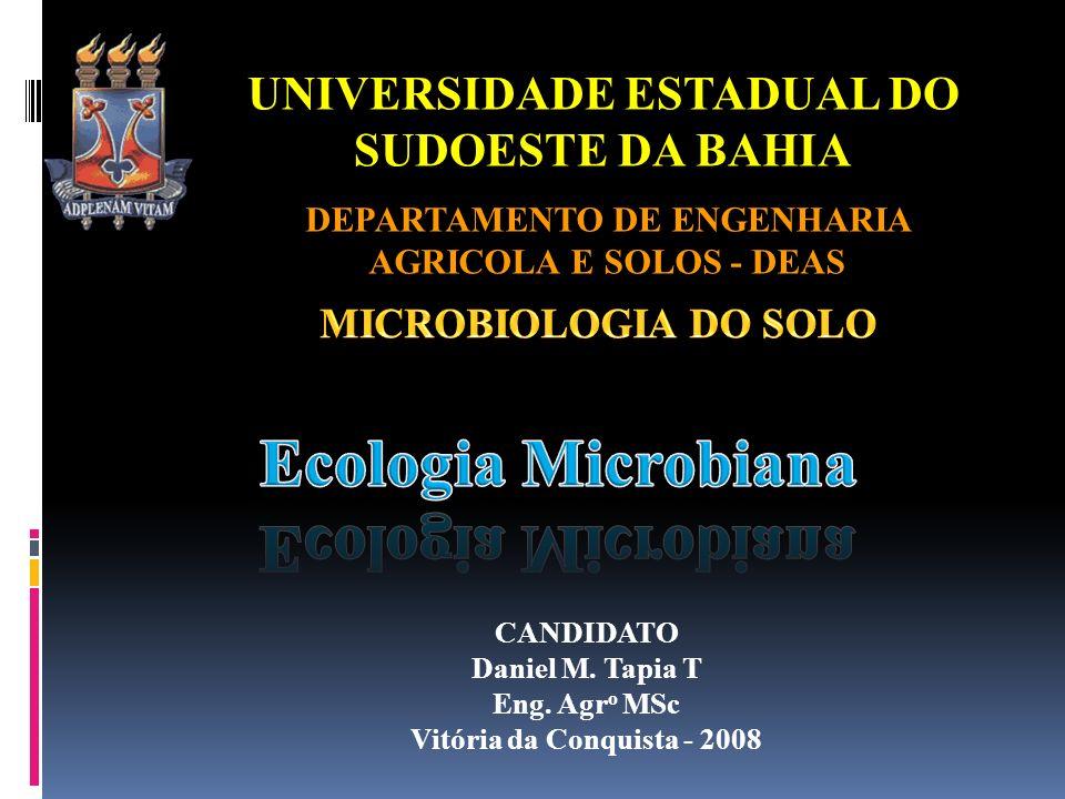 Ecologia Microbiana UNIVERSIDADE ESTADUAL DO SUDOESTE DA BAHIA