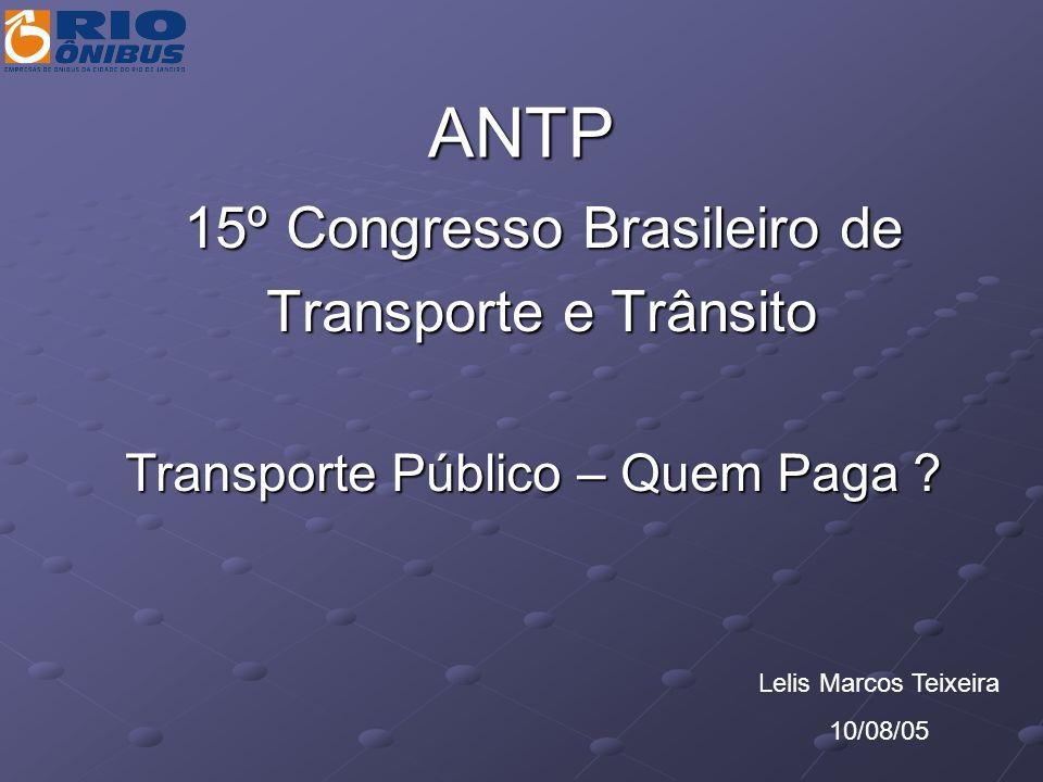 Transporte Público – Quem Paga