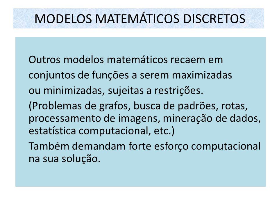 MODELOS MATEMÁTICOS DISCRETOS