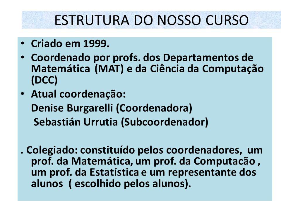 ESTRUTURA DO NOSSO CURSO