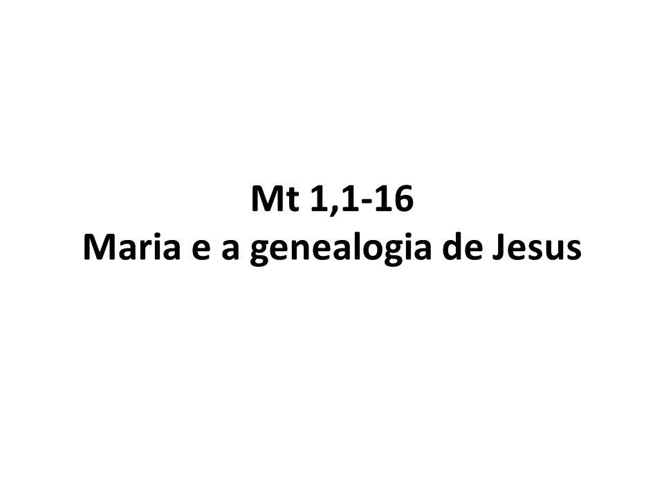 Mt 1,1-16 Maria e a genealogia de Jesus