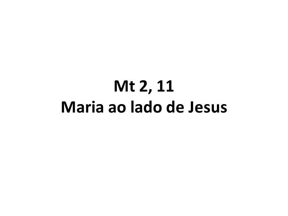 Mt 2, 11 Maria ao lado de Jesus