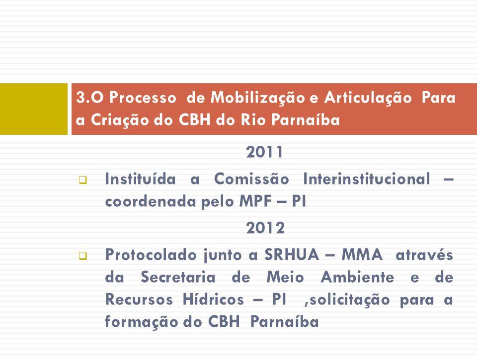 3.O Processo de Mobilização e Articulação Para a Criação do CBH do Rio Parnaíba