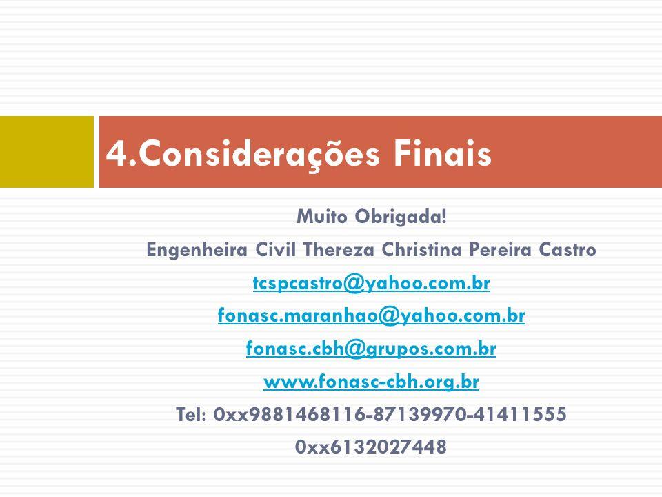 Engenheira Civil Thereza Christina Pereira Castro