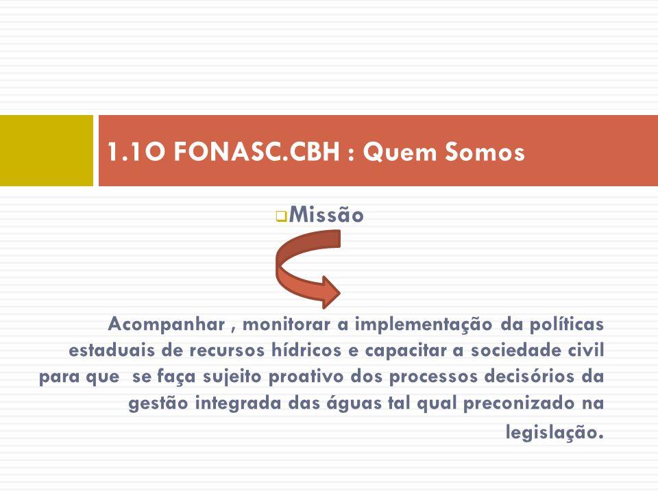1.1O FONASC.CBH : Quem Somos