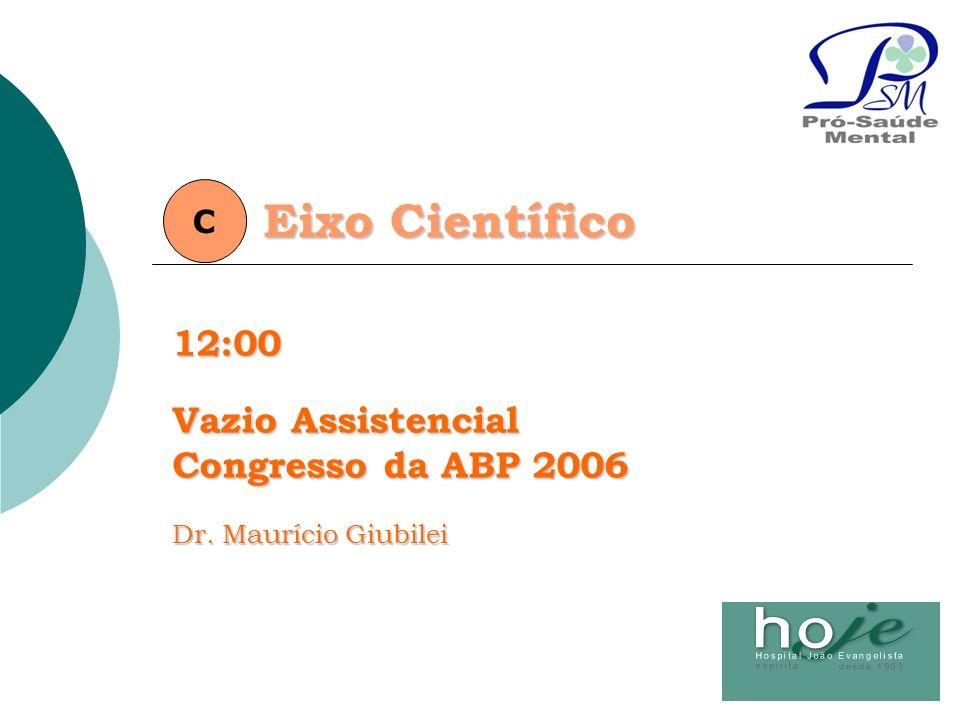 Eixo Científico 12:00 Vazio Assistencial Congresso da ABP 2006 C