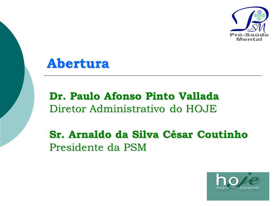 Abertura Dr. Paulo Afonso Pinto Vallada Diretor Administrativo do HOJE