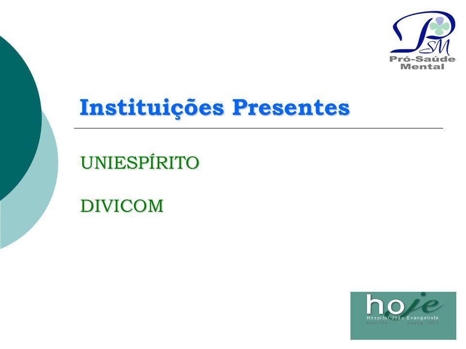 Instituições Presentes