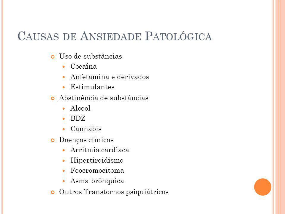 Causas de Ansiedade Patológica