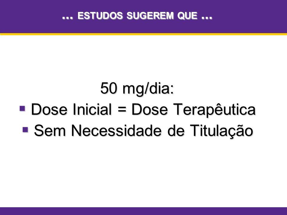 Dose Inicial = Dose Terapêutica Sem Necessidade de Titulação
