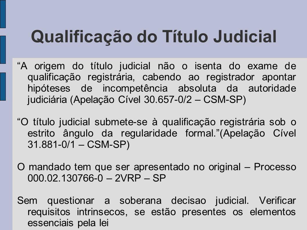 Qualificação do Título Judicial