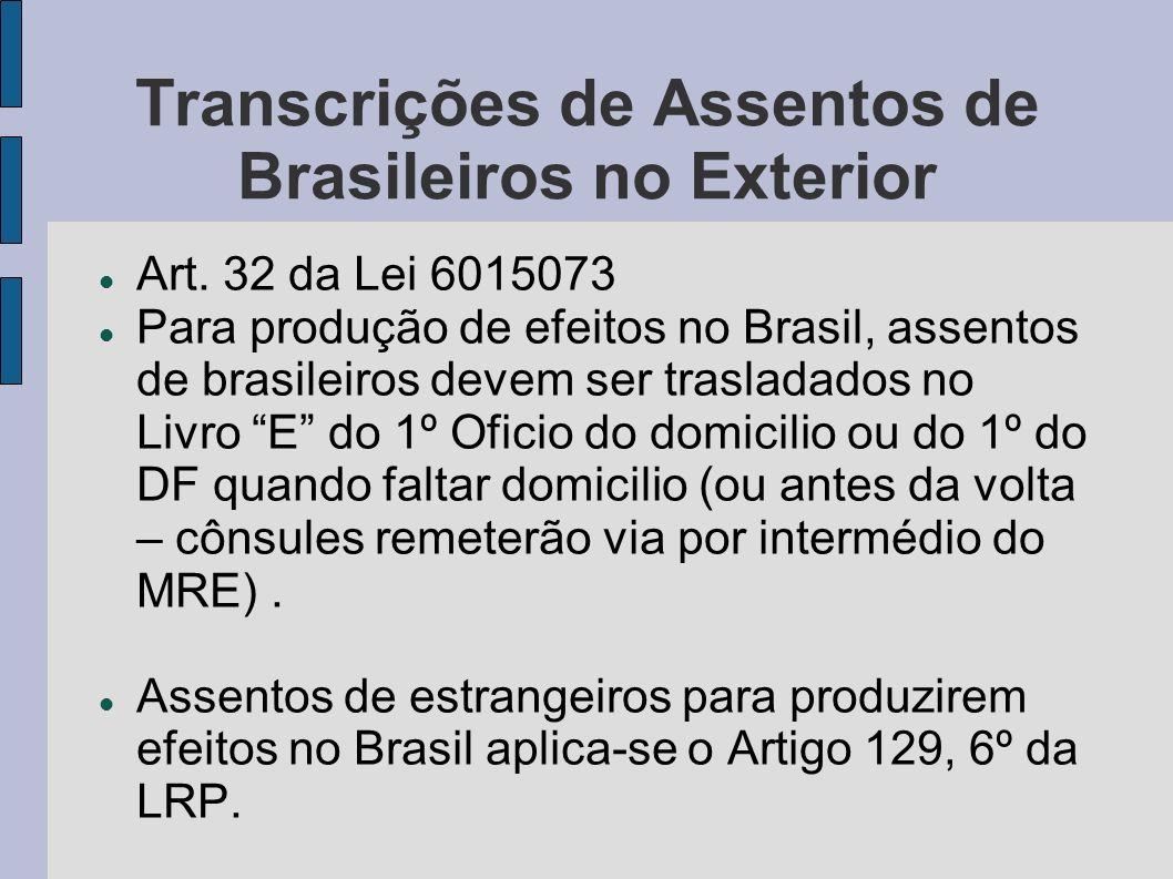 Transcrições de Assentos de Brasileiros no Exterior