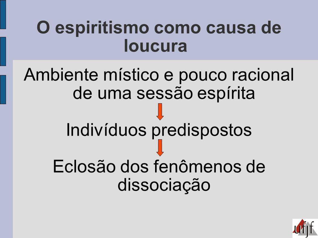 O espiritismo como causa de loucura