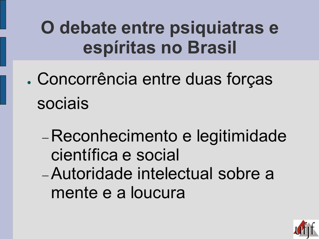 O debate entre psiquiatras e espíritas no Brasil