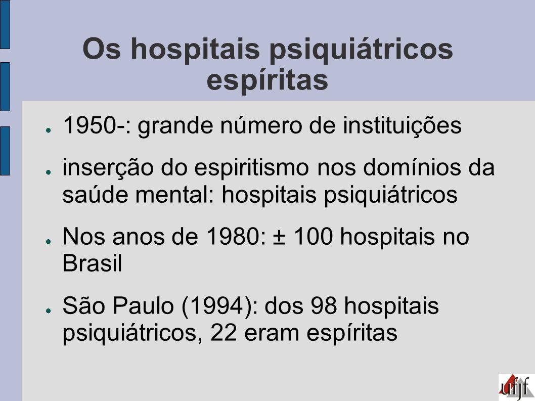 Os hospitais psiquiátricos espíritas