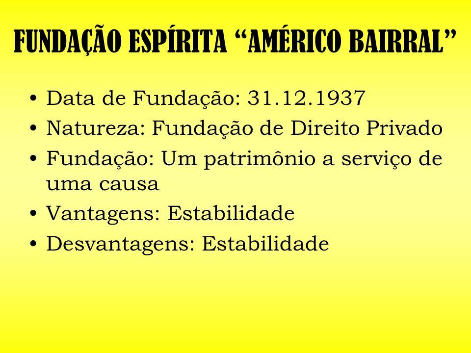 FUNDAÇÃO ESPÍRITA AMÉRICO BAIRRAL