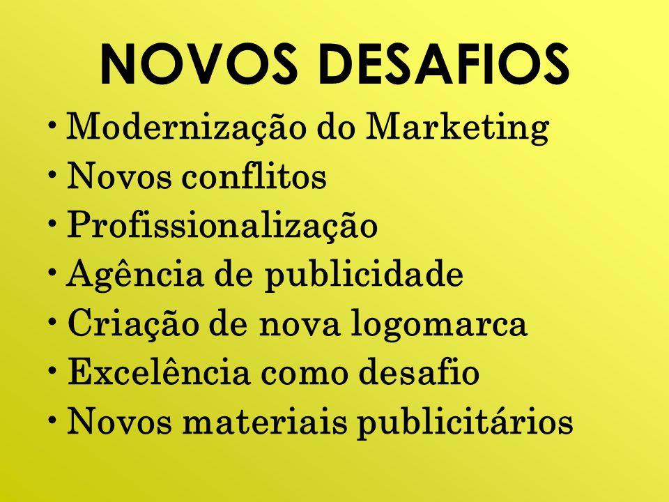 NOVOS DESAFIOS Modernização do Marketing Novos conflitos
