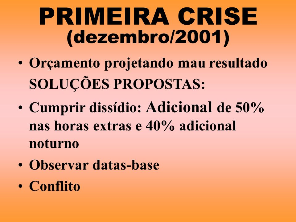 PRIMEIRA CRISE (dezembro/2001)