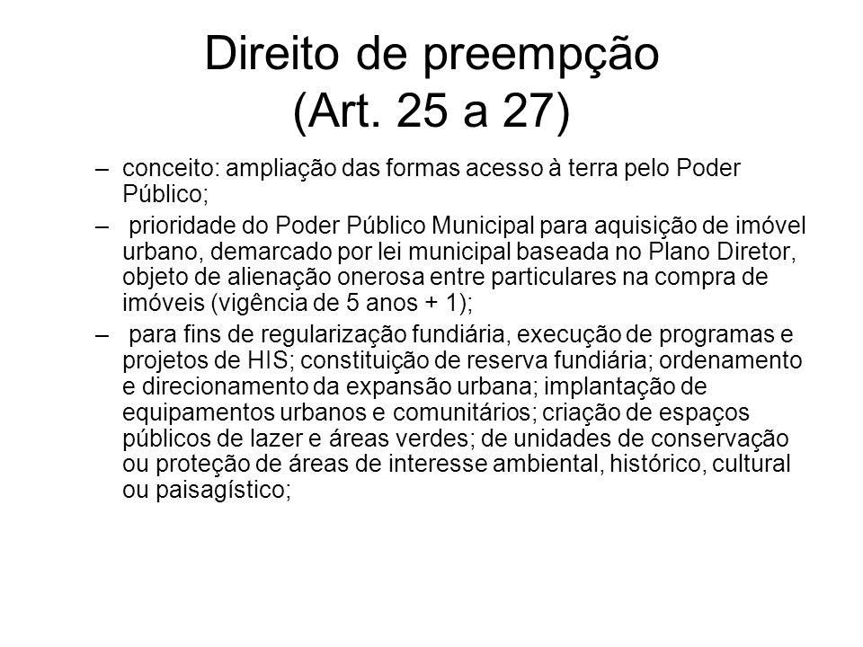 Direito de preempção (Art. 25 a 27)