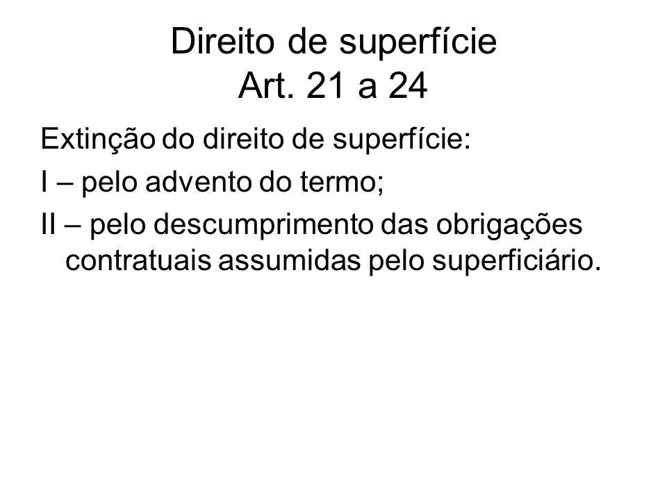Direito de superfície Art. 21 a 24