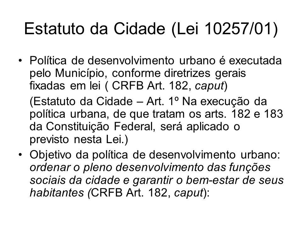 Estatuto da Cidade (Lei 10257/01)
