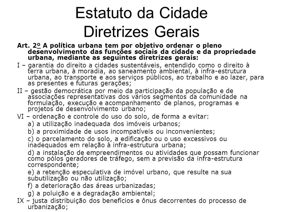 Estatuto da Cidade Diretrizes Gerais
