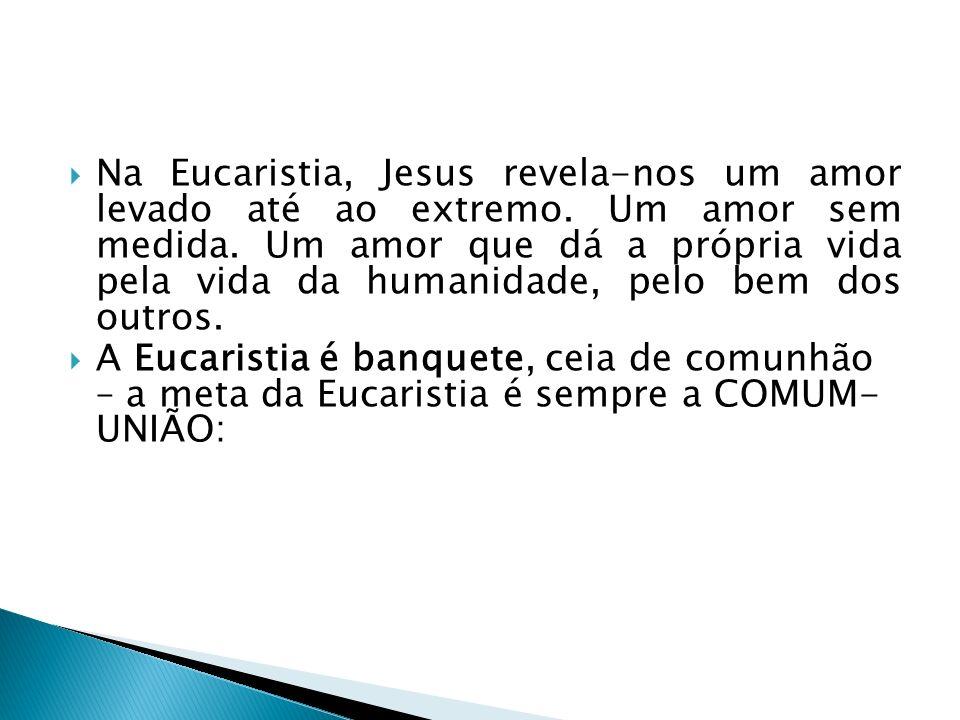 Na Eucaristia, Jesus revela-nos um amor levado até ao extremo