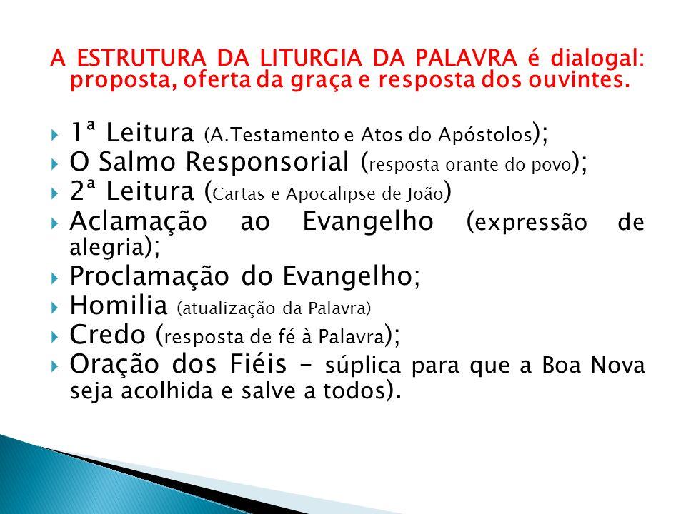 1ª Leitura (A.Testamento e Atos do Apóstolos);
