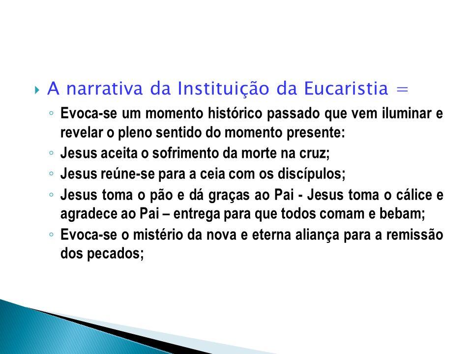 A narrativa da Instituição da Eucaristia =