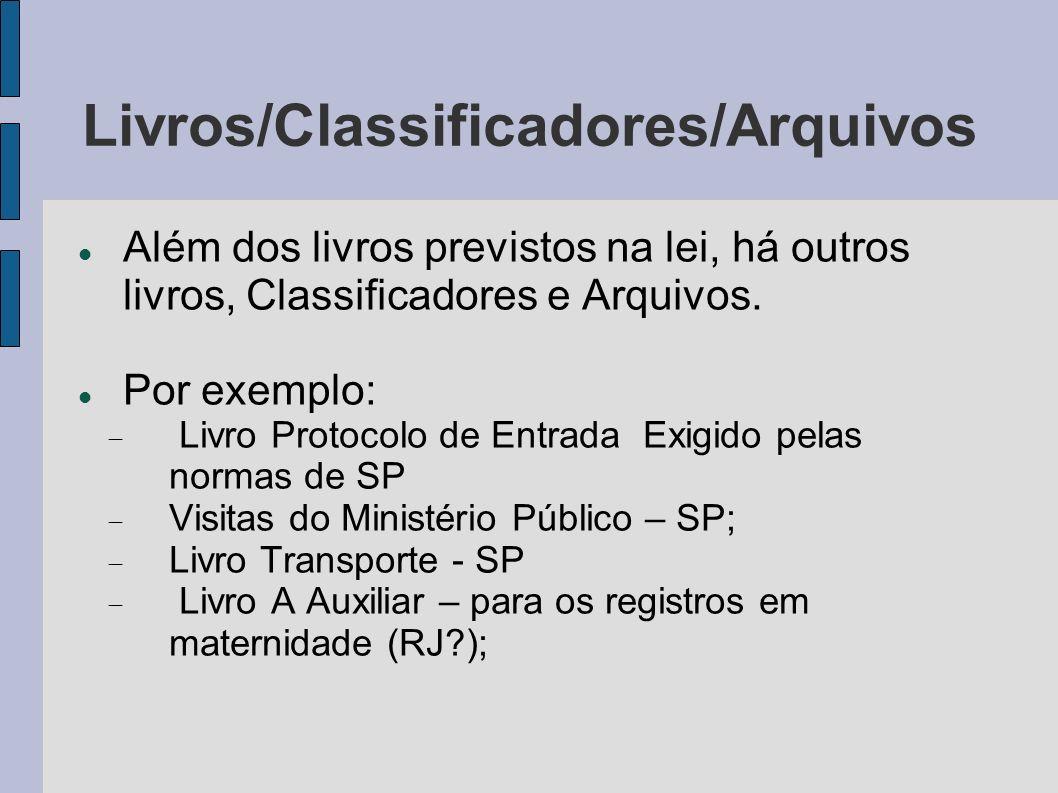Livros/Classificadores/Arquivos