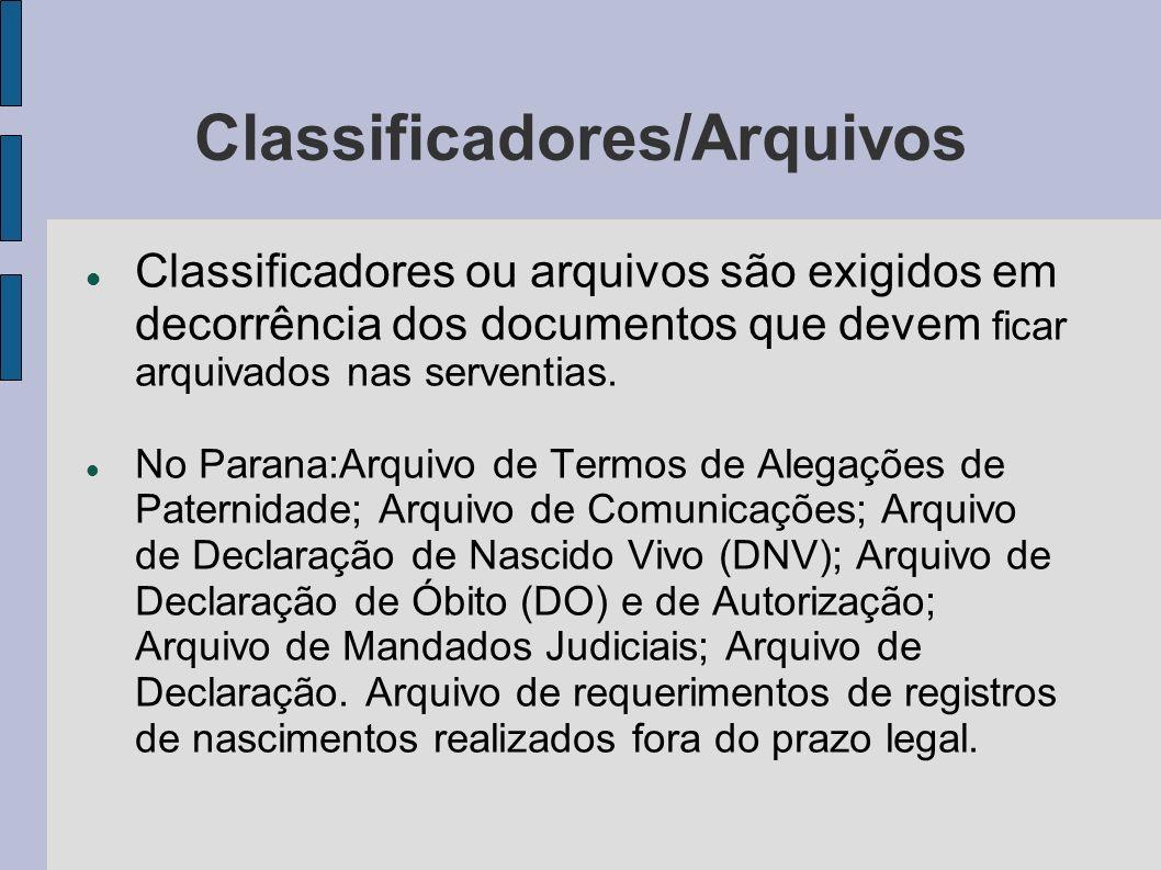 Classificadores/Arquivos