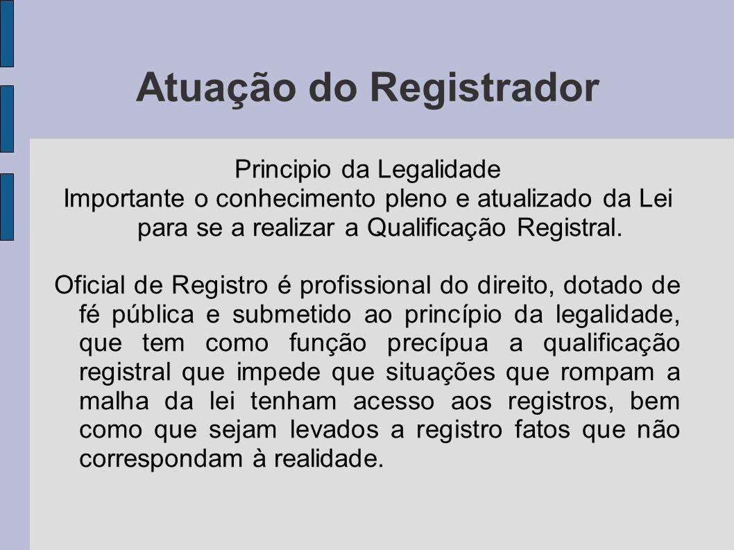 Atuação do Registrador