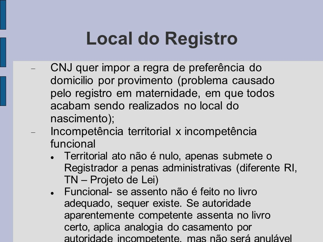 Local do Registro