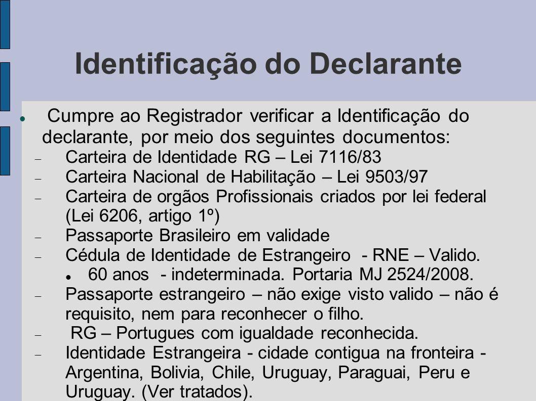 Identificação do Declarante