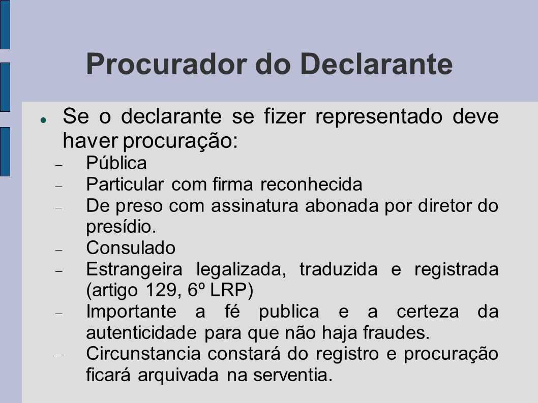 Procurador do Declarante