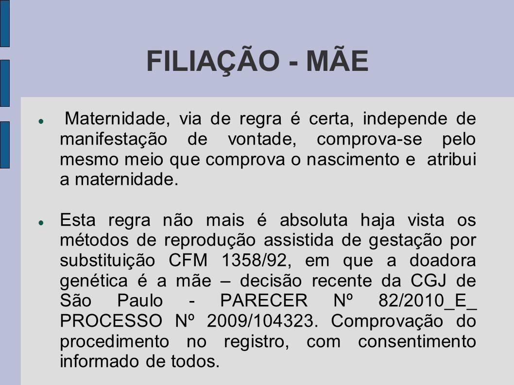 FILIAÇÃO - MÃE