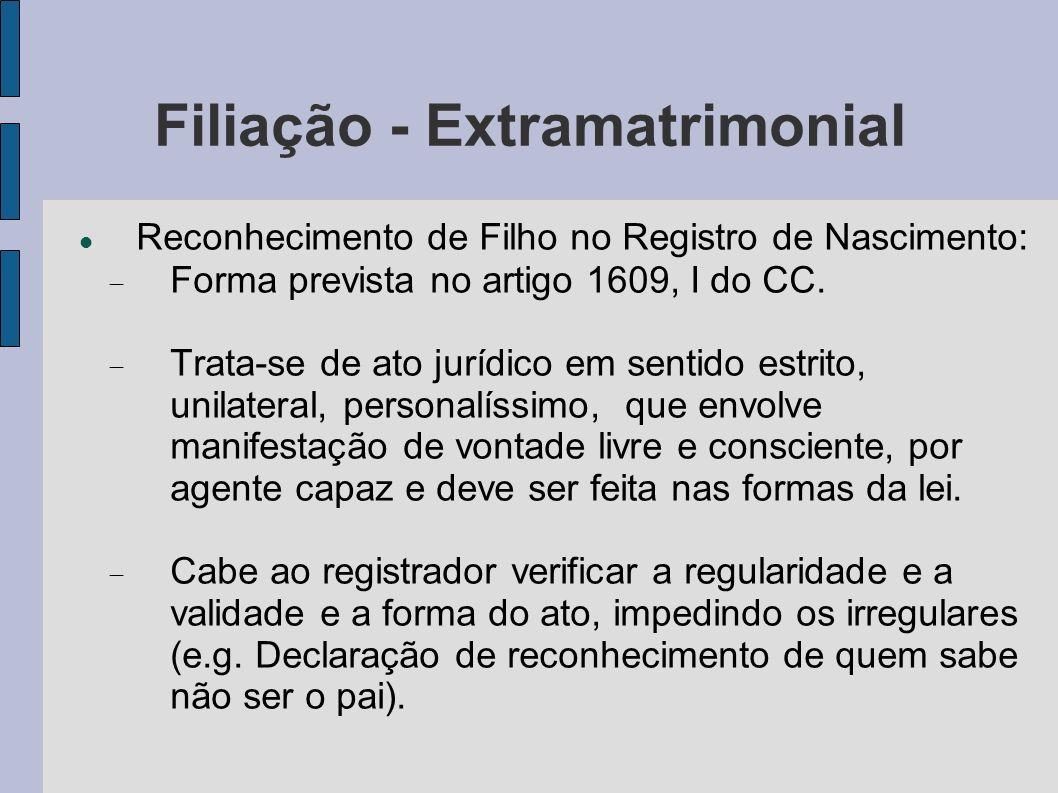 Filiação - Extramatrimonial