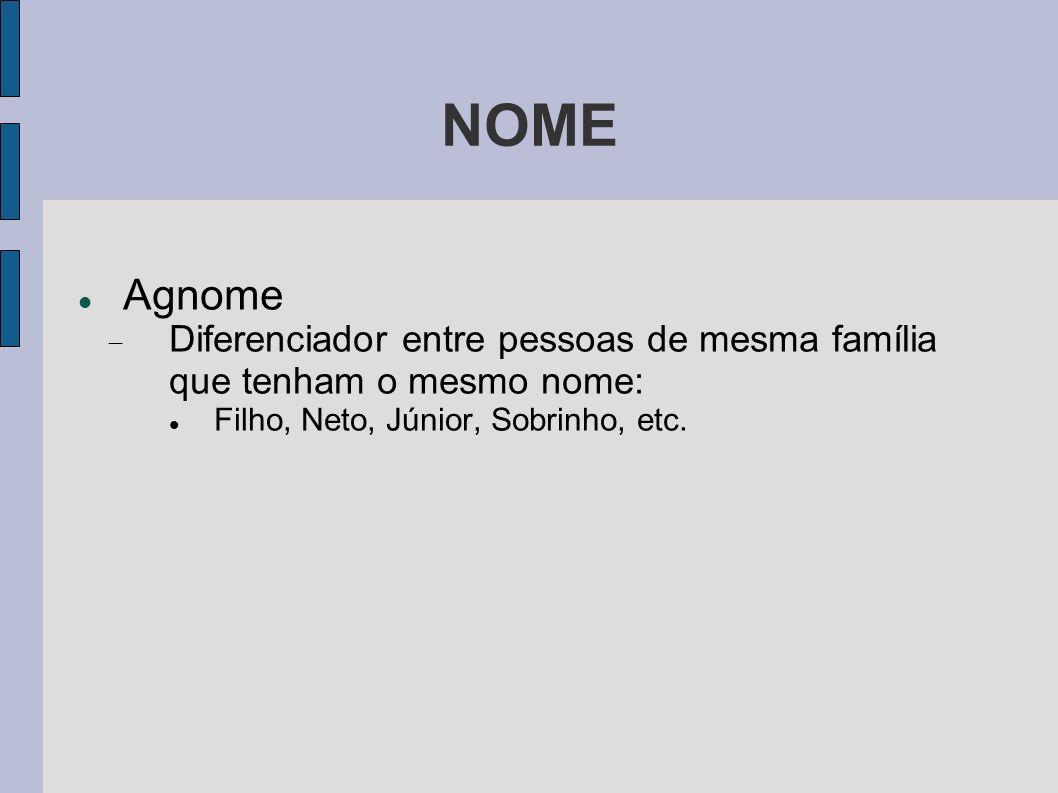 NOME Agnome.